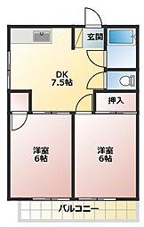 メゾンS[2階]の間取り
