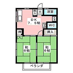 長島ハイツ[1階]の間取り