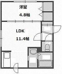 北海道札幌市豊平区豊平五条10丁目の賃貸マンションの間取り