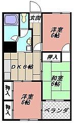 フォーレスト折尾[302号室]の間取り