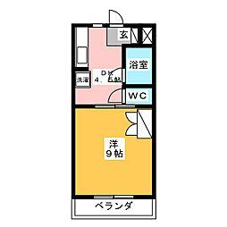 マンションジュネス VI[3階]の間取り