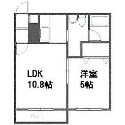 北海道札幌市豊平区月寒東二条7丁目の賃貸マンションの間取り