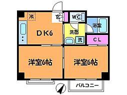 東京都調布市仙川町2丁目の賃貸マンションの間取り