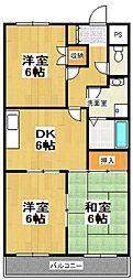 原第7マンション[207号室]の間取り