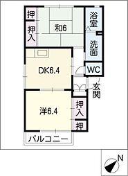 パークサイドA・B[2階]の間取り
