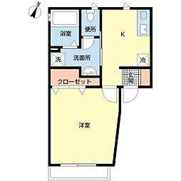新潟県新潟市中央区水道町2丁目の賃貸アパートの間取り