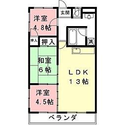 レジデンス桜[201号室]の間取り
