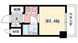 朝日プラザ甲子園[305号室]の間取り