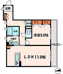 ハイツ富士[2階]の間取り