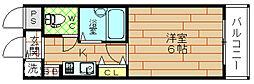 アーバンパレス九条[2階]の間取り