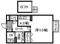 セジュール藤井 B棟[205号室]の間取り