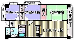 パストラル和泉[701号室]の間取り