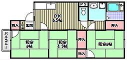 シャトー・ド・イワネE号館[2階]の間取り