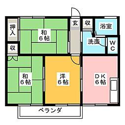 ボナール山田A棟[2階]の間取り
