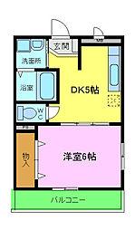 近鉄南大阪線 恵我ノ荘駅 3.4kmの賃貸マンション 1階1DKの間取り