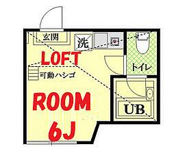 神奈川県横浜市鶴見区仲通3丁目の賃貸アパートの間取り