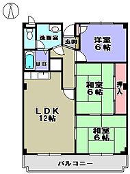 アメニティ湊[2階]の間取り