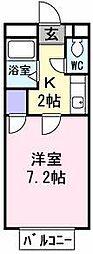 大阪府堺市西区鳳東町3丁の賃貸アパートの間取り