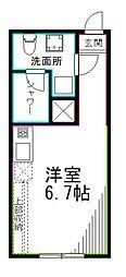 JR総武線 西荻窪駅 徒歩6分の賃貸マンション 1階ワンルームの間取り