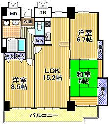 酉島リバーサイドヒルなぎさ街20号棟[36階]の間取り