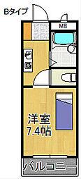 ロンネストWAVEHOUSE[3階]の間取り