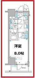 ルフォンプログレ東上野 2階1Kの間取り