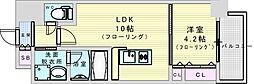 阪急神戸本線 神崎川駅 徒歩10分の賃貸マンション 8階1LDKの間取り