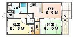 フォレステージュ武庫之荘[1階]の間取り