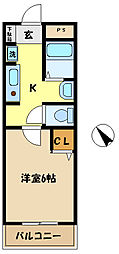 埼玉県さいたま市桜区中島4丁目の賃貸マンションの間取り