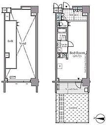 東京メトロ有楽町線 辰巳駅 徒歩5分の賃貸マンション 1階ワンルームの間取り