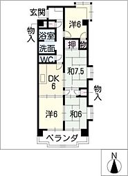 コンフォトゥール[2階]の間取り
