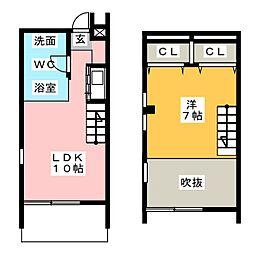 [テラスハウス] 愛知県春日井市如意申町6丁目 の賃貸【/】の間取り