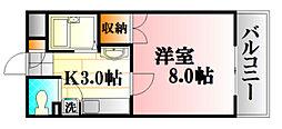 東子ハイツC棟[406号室]の間取り