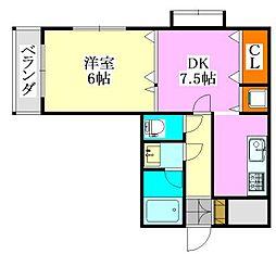 グローバルジョイ弐番館[2階]の間取り