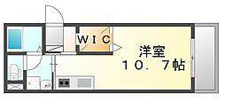 JR山陽本線 福山駅 徒歩5分の賃貸マンション 2階ワンルームの間取り