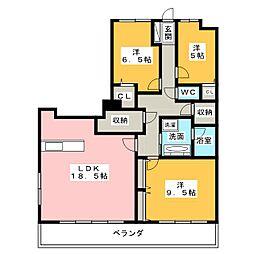 ベレーサ熱田[11階]の間取り