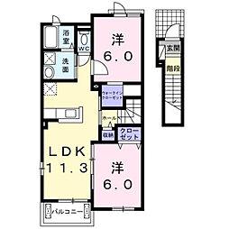 ドゥマン クレールI[2階]の間取り