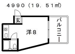 アベノ池田マンション[5階]の間取り
