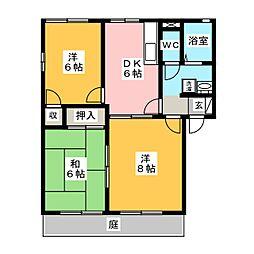 メゾン7 B棟[1階]の間取り