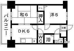 フィデスローザ[6階]の間取り