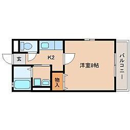 静岡県静岡市葵区田町の賃貸アパートの間取り