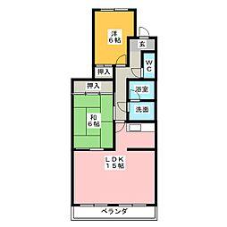 ベルシャトー新守山[1階]の間取り