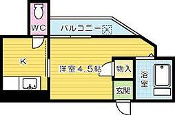 片野タカケンビル[405号室]の間取り