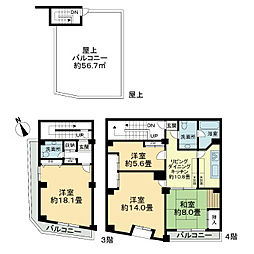 渋谷ウエストビル[3階]の間取り