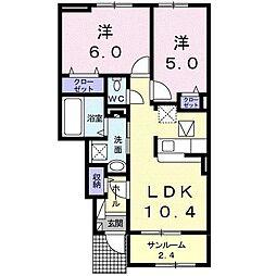 植上町アパート[0103号室]の間取り