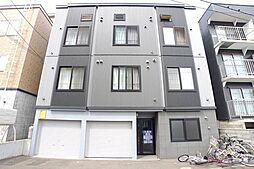 北海道札幌市豊平区平岸三条2丁目の賃貸アパートの外観