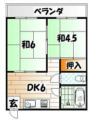 徳永ハイツ[2階]の間取り