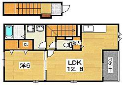 サニーフラット2[2階]の間取り