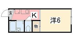 NISHIKI[201号室]の間取り
