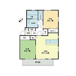 グランベールM・S B棟[2階]の間取り